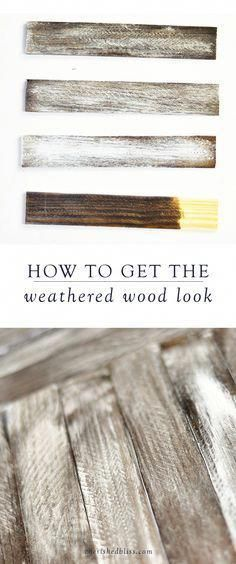 handmade home decor Using a rustic finish on your DIY projects will give your space a farmhouse-style look. Here, you will learn how to get the weathered wood look to add a special touch to your home decor. Do It Yourself Furniture, Do It Yourself Home, Diy Furniture, Whitewashing Furniture, Furniture Design, Studio Furniture, Bespoke Furniture, Rustic Furniture, Office Furniture
