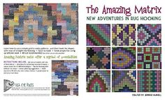 The Amazing Matrix available from Fish Eye Rugs (rug hooking)