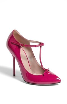 Gucci 'Beverly' T-Strap Pump available at #Nordstrom