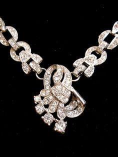 Art Deco Rhinestone Necklace VintageAntique by RenaissanceFair, $57.00