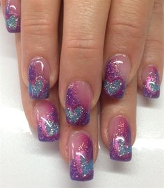 Airbrushed Heart Silhouttes By Chrissiepearce Nail Art Gallery Nailartgallery Nailsmag Nails