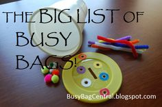 Busy Bag Central: Master list of Busy Bags and Sensory Kits