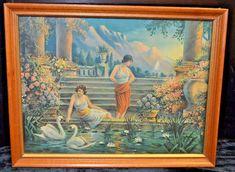 VINTAGE-FRAMED-PRINT-OF-TWO-MAIDENS-10-034-X-13-1-4-034-W-FRAME Vintage Wall Art, Vintage Frames, Vintage Walls, Vintage Prints, Framed Art, Framed Prints, Art Prints, Painting Frames, Artsy Fartsy