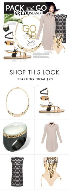 """""""Pack and Go Travels (Greek Islands)"""" by ms-jade-1 ❤ liked on Polyvore featuring Ancient Greek Sandals, Palm Beach Jewelry, Xander, Missoni and Melissa Odabash"""
