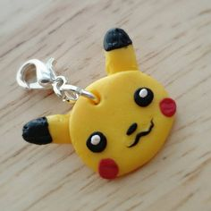 innovative design fc39f d644c Items similar to Handmade Polymer Clay Pokemon Charm - Pikachu on Etsy