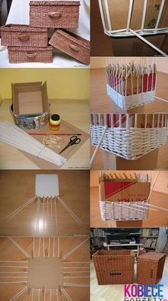 wicker boxes