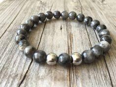 Gemstone bracelet men bracelet stretch stacking door KennlyDesign
