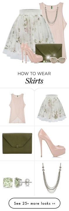 """Floral Print Skater Skirt"" by brendariley-1 on Polyvore"