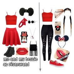 """""""A trip to Disneyland"""" by skylarev32 on Polyvore featuring WearAll, Pilot, WithChic, Forever 21, Topshop, Vans, Disney, Bling Jewelry, Casetify and Smashbox"""