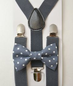 Kids Boys Baby,gray Suspenders,light peach,salmon bow tie 6months-5T,Ring bearer