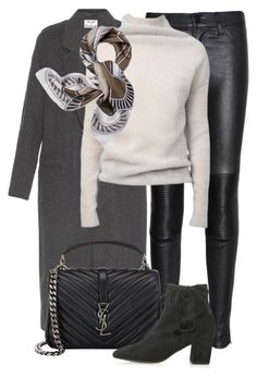 """""""Untitled #2259"""" by rosyfilm ❤ liked on Polyvore featuring Acne Studios, J Brand, Rick Owens, Yves Saint Laurent, Topshop and Tory Burch"""