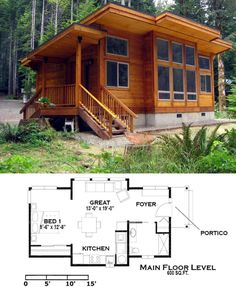 Country house designs - Choose the style and material that best suits you Wooden House Design, Country House Design, Country Style Homes, Wooden Houses, Country Houses, Small Modern House Plans, Small House Plans, Cabin Loft, Casas The Sims 4