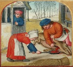 Farmstead Meatsmith is the only abattoir, butchery and educational operation of our kind in the country. Medieval Life, Medieval Art, Medieval Dress, Medieval Manuscript, Illuminated Manuscript, Renaissance, 15th Century Clothing, Landsknecht, Late Middle Ages