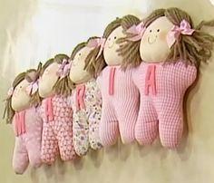 Cordão de bonecas de tecido passo a passo com molde grátis — Blog de Artesanatos