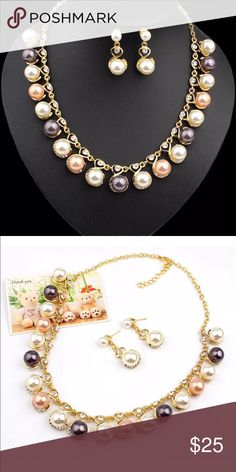 Pearl Set brand new.. earrings and necklace Jewelry Necklaces