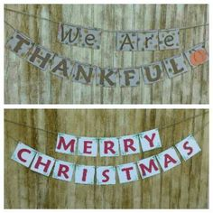 Double Sided Holiday Banner Thanksgiving and by BlessedPieces