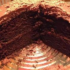 Extreme Chocolate Cake - A rich moist chocolate cake with a chocolate buttercream icing. This is the best cake in the world!