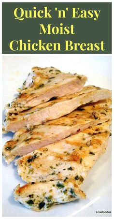 Wonder how you can make a chicken breast moist and full of great flavour? and also quick? Come take a look here, Quick & Easy Moist Chicken Breast