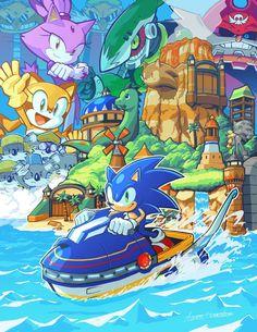 Sonic Fan Art, Sonic The Hedgehog, Blaze The Cat, Dragon Ball, Shadow Sonic, Care Bear Party, Doom 3, Pirate Island, Pokemon