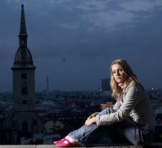 model visting Bratislava