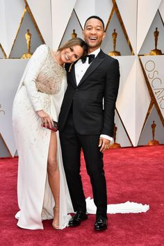 Chrissy Teigen and John Legend At The 2017 Oscars