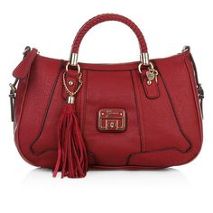 Dark red - the big trend for fall 2012    Guess Gerri Satchel Ruby — Fashionette