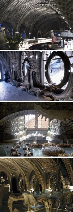Museum HR Giger Bar in Switzerland. There are so many reasons to visit Switzerland but being a bit of a geek, this will be at the top of my list for places to see while I visit!