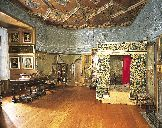 Mary Queen of Scots, Bedchamber (She was my ancestor, which is completely awesome and terrible at the same time. Los Tudor, Tudor Era, Tudor Style, Mary Queen Of Scots, Queen Mary, England And Scotland, Edinburgh Scotland, Holyrood Palace, Mary Stuart