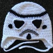 My son Jax who is 4 is a huge Star Wars fan. I have been searching for a Storm Trooper Hat pattern for a while. I decided to make a pattern of my own. Crochet Hat Pattern Kids, Crochet Kids Hats, Crochet Cap, Knitted Hats, Crochet Patterns, Hat Patterns, Crochet Flower, Irish Crochet, Crochet Clothes