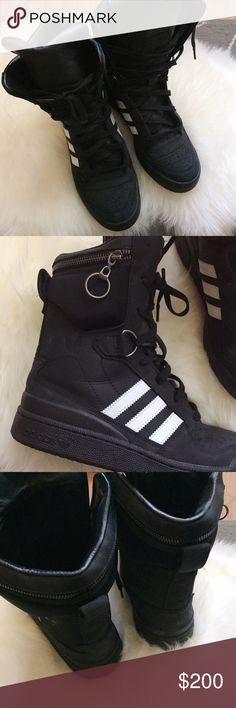 timeless design 9fcb5 94da9 Adidas Jeremy Scott Tall Boy Boots Adidas x Jeremy Scott collection - high  cut design with