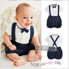 baby clothing | Summer Baby Clothing Cotton 2pcs Suit Short Infant Boy Gentleman Suspender Gift Sets For Newborns Christening Suits For Boys