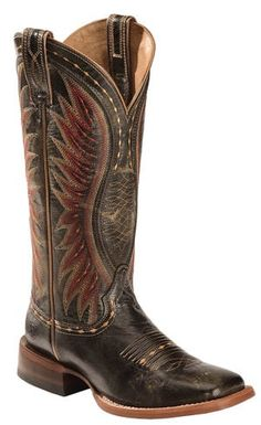 Ariat Black Vaquera Cowgirl Boots - Square Toe | Sheplers
