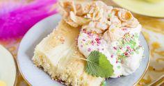 mjuk-citronkaka-i-langpanna-recept Pavlova, Vanilla Cake, Eat, Ethnic Recipes, Desserts, Food, Drink, Lemon Balm, Recipies