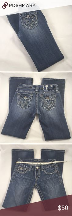 MEK Jakarta Boot Cut size 26 MEK Jakarta boot cut denim in size 26, inseam 34, 98% cotton, 2% spandex, medium wash, approximately 14.75 in when measured at waist as shown, retails $145OFFERS WELCOME!!  Bundles encouraged! You save in your shipping costs! 20% off bundles 2+ items! MEK Jeans Boot Cut