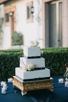 Coachella Valley Mansion Wedding from Apertura Black And White Wedding Cake, White Wedding Cakes, Square Wedding Cakes, Wedding Rentals, Dream Wedding, Wedding Things, Wedding Stuff, Anniversary Parties, Cake Creations