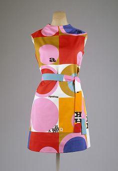 vintage Dress Rudi Gernreich, 1967 The Metropolitan Museum of Art Sixties Fashion, Mod Fashion, Fashion Art, Vintage Fashion, Fashion Design, Sporty Fashion, Gothic Fashion, Fashion Women, Moda Retro
