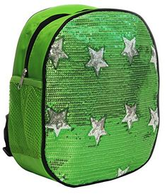 Dance Bag- Solid Sequin Front With Stars Backpack - Green Princess http://www.amazon.com/dp/B00NI9Z8UC/ref=cm_sw_r_pi_dp_8aFjvb00KFNYP