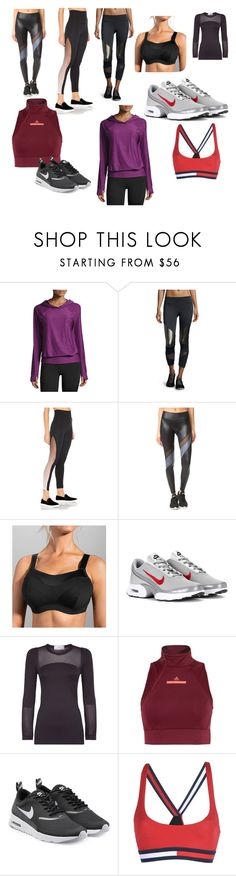 """n"" by marie-jane-stupak on Polyvore featuring The North Face, Onzie, Beyond Yoga, Moving Comfort, NIKE, adidas and Tommy Hilfiger"