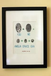 Fingerprint wall art {picture only - sorry, can't find the source}