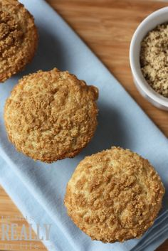 Recipe for Banana Crumb Muffins - A quick little breakfast treat, and a good way to use up overly ripe bananas.