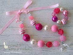 Chunky Necklace Bracelet- Toddler Necklace - Purple - Jewelry - Girls Baby Child Toddler Necklace via Etsy