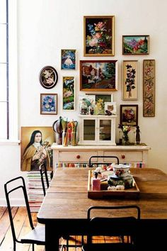 Dining rooms don't have to be formal or stuffy. We're all about a boho chic dining space, too! Check out these 40 dining rooms that master boho interior design. For more dining room design ideas, go to Domino!