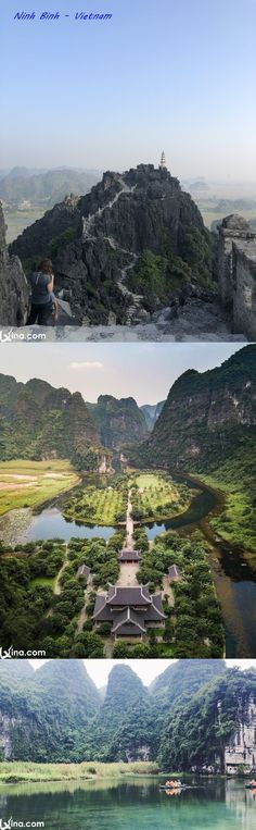 Through these photos of natural landscapes in Ninh Binh, Vietnam, you can easily imagine the charming beauty here. Vietnam Destinations, Family Vacation Destinations, Travel Destinations, Vietnam Travel, Travel Advice, Outdoor Activities, Family Travel, Traveling By Yourself, Travel Inspiration