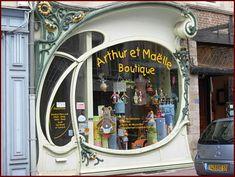 Douai (France), an art nouveau shop window