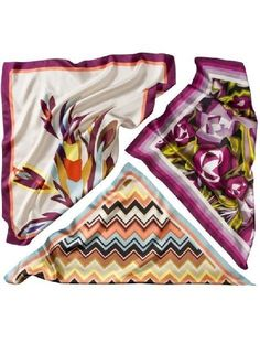 45.00$  Watch here - http://viwcx.justgood.pw/vig/item.php?t=o044fg78552 - Missoni for Target Satin 100% Silk Scarf White Yellow Floral 45.00$