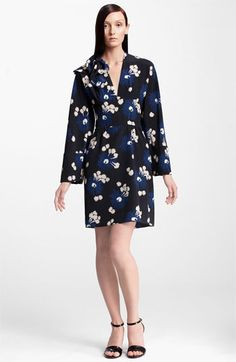 Marni Floral Print Silk Dress available at #Nordstrom