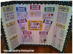 Writing Center reference board- great for daily 5 read to write Miss Kindergarten, Kindergarten Writing, Teaching Writing, Writing Activities, Teaching Resources, Teaching Ideas, Writing Resources, Kindergarten Freebies, Writing Topics