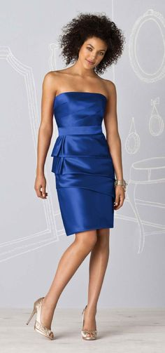 maid of honour (julie) in sapphire blue