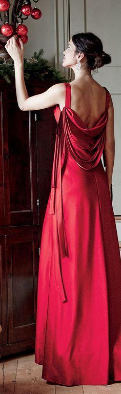 Theia Sleeveless Draped Gown