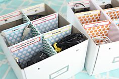 Great idea! IHeart Organizing: Tips for Selecting Proper Storage for your Projects
